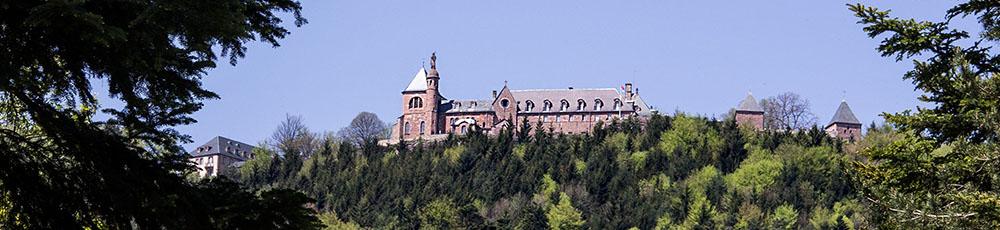 Odilienberg Kloster von unten